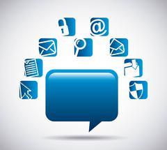 Social media design Stock Illustration
