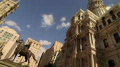 Philadelphia City Hall and Surrounding Architecture Stock Footage