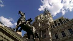 Philadelphia City Hall Dramatic/ With Pan Stock Footage