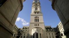 Philadelphia City Hall Interior Courtyard Stock Footage