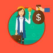 Successful business idea - stock illustration