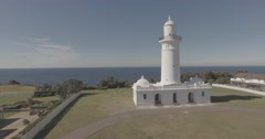 Macquries Lighthouse Stock Footage