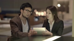 Meeting of two young entrepreneurs talking about business concept Stock Footage