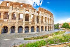 Colosseum Amphitheatre Rome Stock Photos
