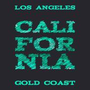 California surf typography t-shirt graphics vectors Piirros