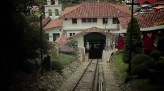 Cable car ride to Mount Monserrate in Bogotá, Colombia. Stock Footage