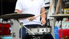 Thai people drum kit Stock Footage