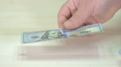 Money Fall On The Table Stock Footage