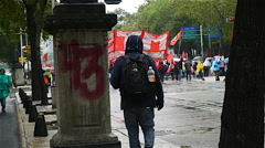 Ayotzinapa Protest 2015 Mexico City Grafiti Stock Footage