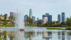 Downtown Los Angeles And Echo Park Day Timelapse Close Stock Footage