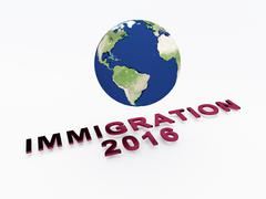 Immigration 2016 concept - stock illustration