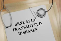 Sexually Transmitted Diseases medicial concept Stock Illustration