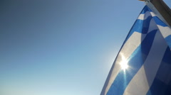 National Flag of Greece Stock Footage
