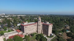 Aerial Drone Footage of 9th Circuit Court of Appeals, Pasadena, CA Stock Footage