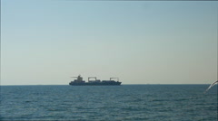 Cargo Ship in Sea Arkistovideo