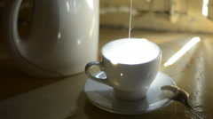 Tea bag in a cup Stock Footage