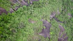 Aerial Dona Marta hills and forest Botafogo Rio de Janeiro city Stock Footage