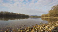 Danube riverbank, Hungary Stock Footage