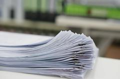 Document for test - stock photo