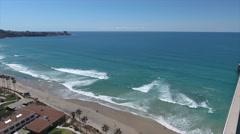 Aerial Drone Footage of Scripps Pier Pacific Ocean Stock Footage