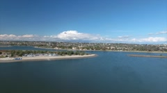Aerial View of Mission Bay, CA Stock Footage