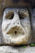 Frightening Stone Head Stock Photos