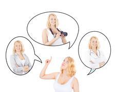 Young woman deciding on a career Stock Photos