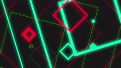 4k Glow Square Abstract Background Animation Seamless Loop. Stock Footage