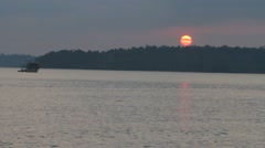 Sunset over Andamans Stock Footage