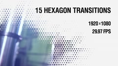 15 Hexagon Transitions vol.2 Stock After Effects