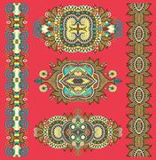Ornamental decorative ethnic floral adornment for your design Stock Illustration