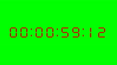 Countdown from 60 to 0 on green screen. Stock Footage