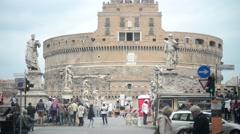 Castel Sant'Angelo Rome - Italy Stock Footage