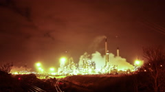 Time-lapse of Immingham Power Station Stock Footage