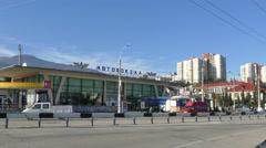 Crimea. Alushta - 2015:  Bus Station Stock Footage
