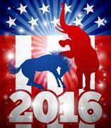 Republicans Winning Election 2016 Concept Stock Illustration
