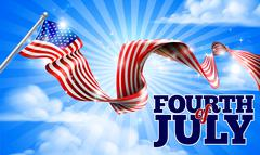 Fourth of July Independence Day American Flag Stock Illustration