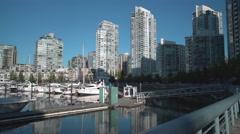 Yaletown, Vancouver Rowers 4K. UHD Stock Footage