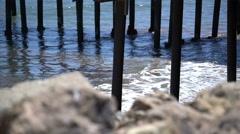 4K Malibu Pier 01 California Coast Stock Footage