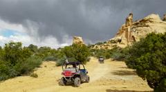 Recreation 4x4 off road sxs drive trail desert southern Utah 4K Stock Footage