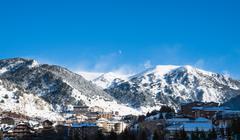 Andorra - Skiing and snowboarding - stock photo