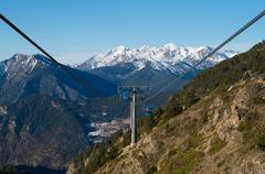 Andorra - Skiing and snowboarding Stock Photos