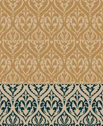 Baroque Pattern with Floral Details in two colors Piirros