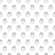 Owl vector seamless pattern. Stock Illustration