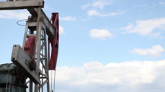 Crude oil pump jack close up Stock Footage