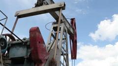 Working oil pump closeup Stock Footage
