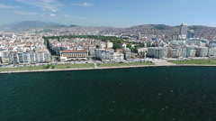 4K Aerial View of Izmir, Turkey Captured by Drone Cam Stock Footage