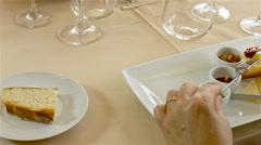 Traditional portuguese food reinterpreted, gourmet. Stock Footage