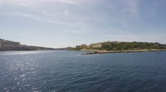04 - From Sliema to Valletta with Ferry Boat, Malta, Real Time, 4k Stock Footage