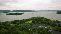Hangzhou  XIHU(west lake)timelapse Stock Footage